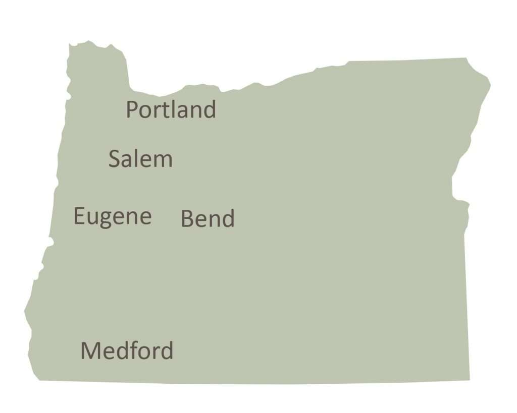 End of Life Choices Oregon coverage map